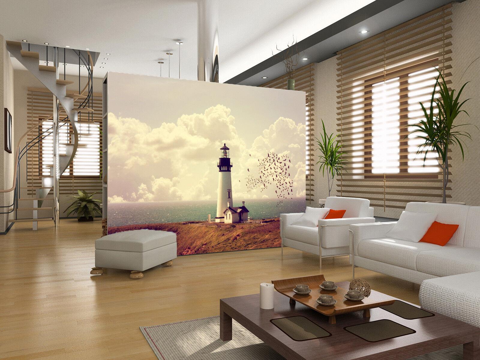 3D Clouds Lighthouse 7 Wall Paper Murals Wall Print Wall Wallpaper Mural AU Kyra