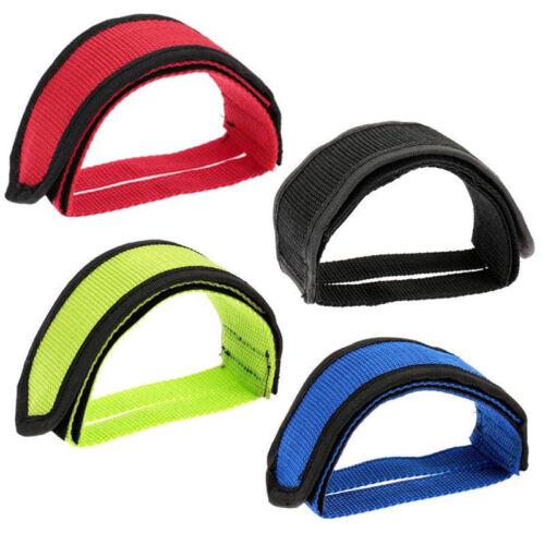 Fixie Bicycle Adhesive Straps Pedal Toe Clip Strap Belt L/_ftPL