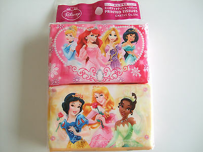 NEW!! Disney Princess Kawaii Pocket Tissue 4pcs/MADE IN JAPAN