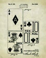 Playing Cards Patent Poster Art Print  Texas Holdem Poker WSOP PhiI Ivey PAT288