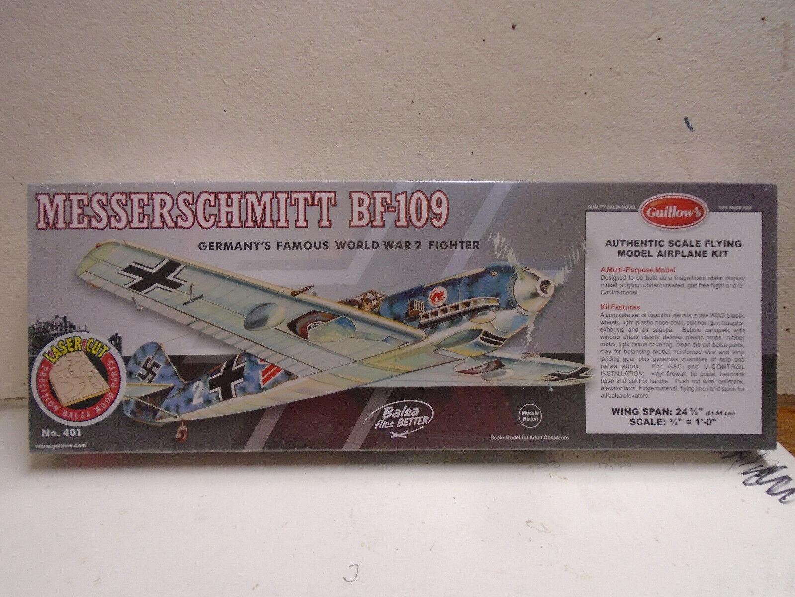 NEW BOX SEALED IN Kit Balsa 109 BF Messerschmitt II WW CUT
