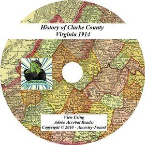 CLARKE-County-Virginia-VA-History-amp-Genealogy-Ancestry-Family-CD-DVD