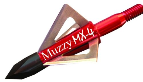 "Bowhunting 100 Grain 1-1//8 209MX43 NEW Muzzy 209-MX4 .025/"" 4 Blade Broadhead"