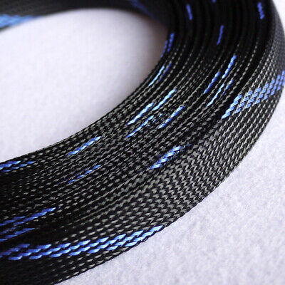 Ø3~16mm Black-Yellow Braided Sleeving Cable Harness Sheathing Expanding Densely