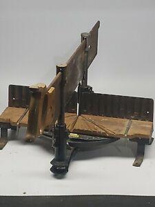 Antique-Vintage-Stanley-no-2246A-Miter-Saw-amp-Box-RETAILER-see-description