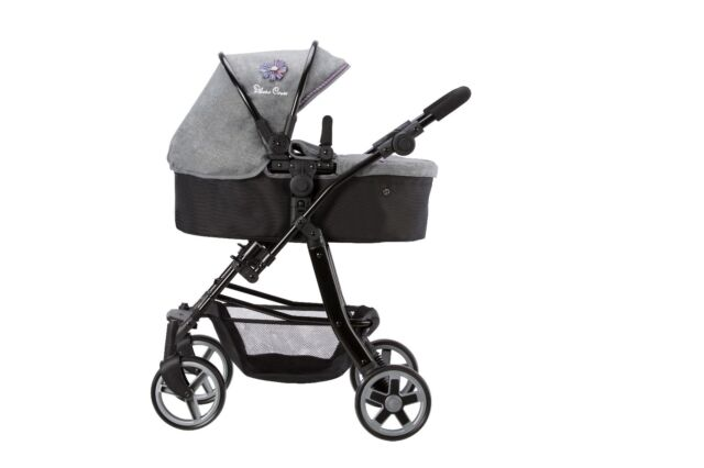 Silver Cross Pioneer 5 in 1 Dolls Pram - Eton Grey Fabric