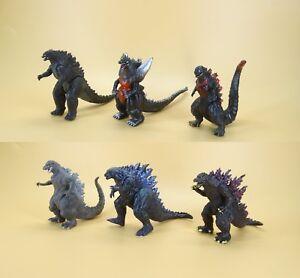 """lot 6 Godzilla Monsters  Mecha Fire Godzilla Gigan action FIGURE SET 5""""-6"""" long"""
