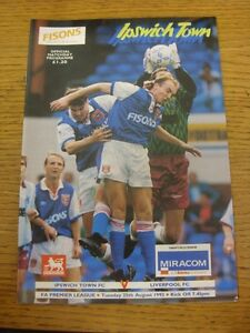 25081992 Ipswich Town v Liverpool 1st Premier League Season  Unless previou - <span itemprop=availableAtOrFrom>Birmingham, United Kingdom</span> - Returns accepted within 30 days after the item is delivered, if goods not as described. Buyer assumes responibilty for return proof of postage and costs. Most purchases from business s - Birmingham, United Kingdom