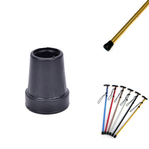 19mm Walking Stick Cane Crutch Pad Rubber Heavy Duty Ferrule End Bottom  Fn SPUK
