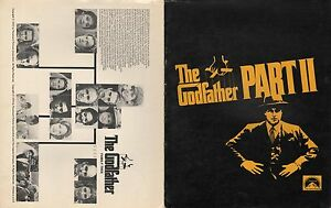 The godfather part ii promotional brochure with cast and family image is loading the godfather part ii promotional brochure with cast thecheapjerseys Images
