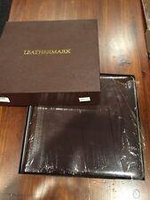NIB LEATHERMARK HOLSON CO. LEATHER BOUND/GOLD TRIM WEDDING PHOTO ALBUM, 13X12.