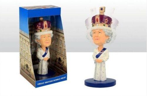 QUEEN Majesty Elizabeth II Royal Commemorative Bobble Head Resin Figure Ornament