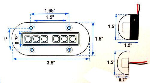 High Intensity White LED Surface Mount Underwater Light 51088