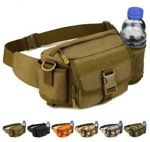 Tactical Water Jug Waist Bag Fanny Pack Molle Army Men Sport Running