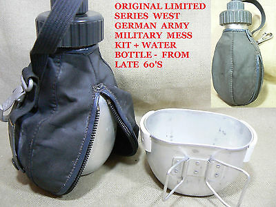 VTG VERY RARE POST WWII WEST GERMAN ARMY  MILITARY MESS KIT+WATER CANTEEN 60'S 3