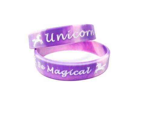 Be Magical UNICORN Wristbands Bracelet Kids Teens Adult Wristband 2 Sizes UK