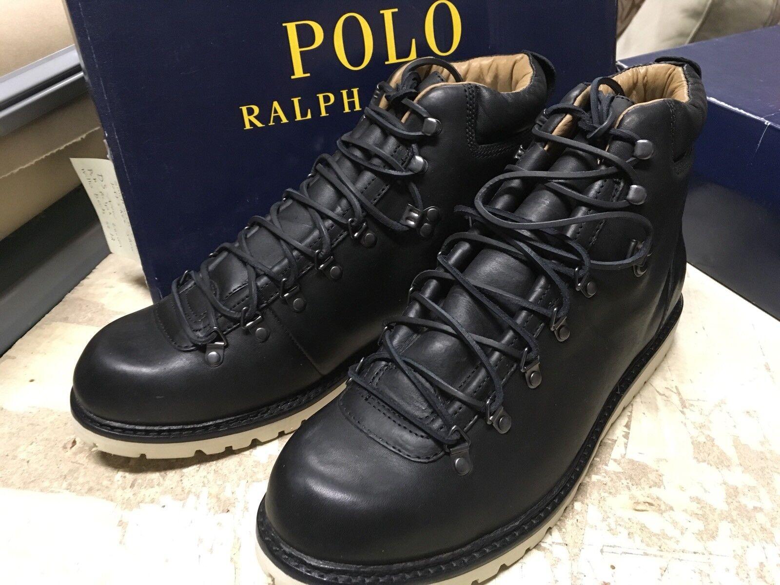 NIB Polo Polo NIB Ralph Lauren Uomo WILLIS BOOTS  BLACK LEATHER SZ 12 D SMALL NICK LEFT fa12d4