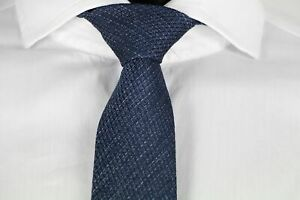 HUGO-BOSS-TAILORED-KRAWATTE-100-Seide-Hand-Made-in-Italy-Dark-Blue