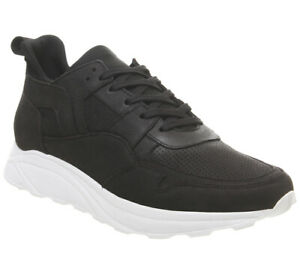 Mens-Office-Lacrosse-Trainers-Black-Nubuck-Casual-Shoes