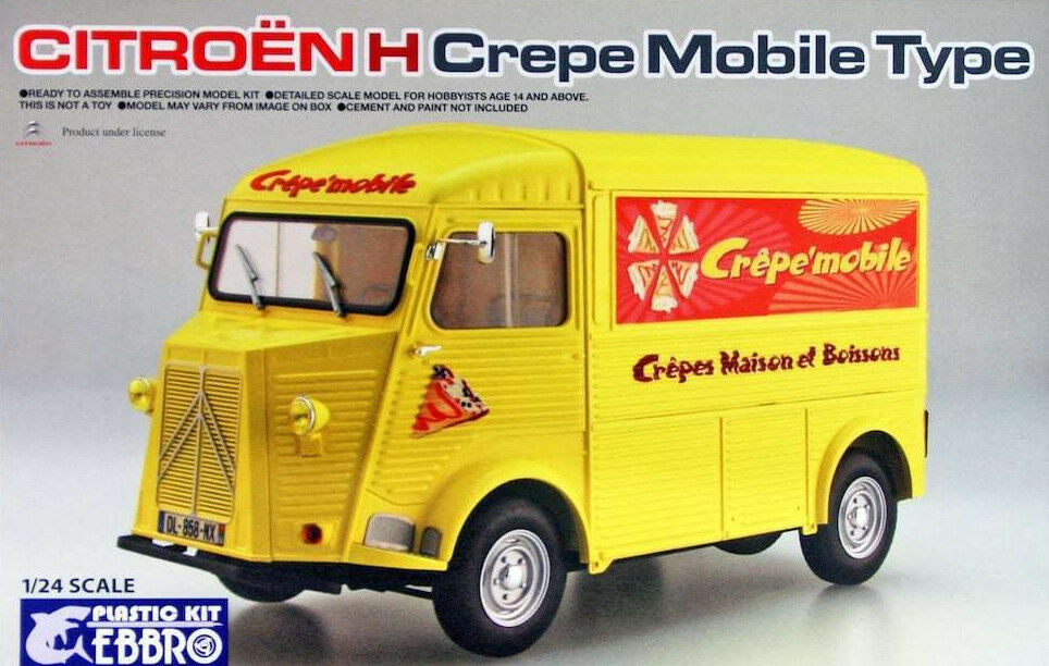 EBBRO 1 24 KIT IN PLASTICA FURGONE CITROEN H CREPE MOBILE TYPE ART 25010