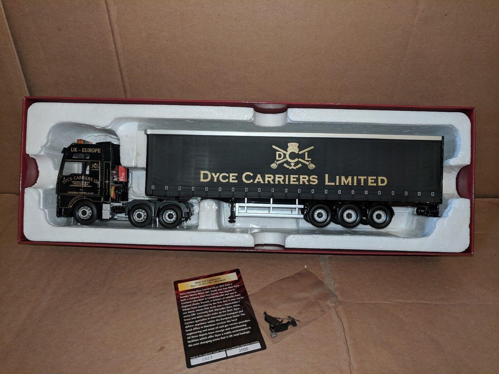 Corgi Man TGX & C Sider Remolque-Dyce portadores