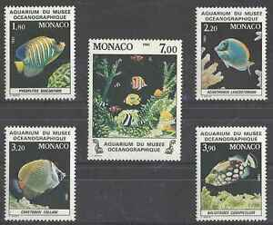 Timbres-Poissons-Monaco-1483-7-lot-10537