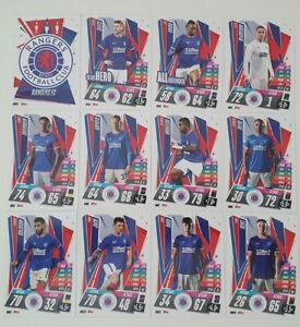 2020/21 Match Attax UEFA Champions League - Rangers team set (12 cards)