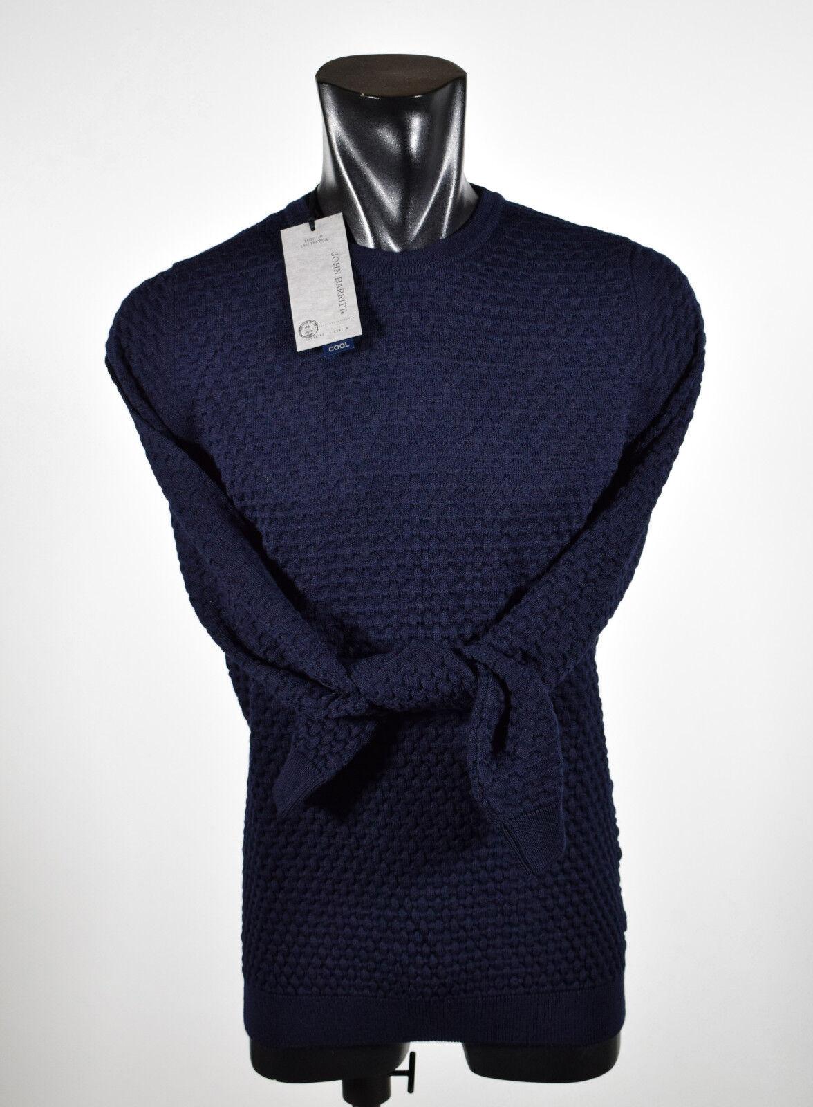 Maglione girocollo Slim Fit John Barritt misto lana punta fantasia tre colori