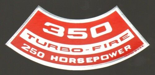 Chevrolet 350 Turbo-Fire 250 HP Air Cleaner Decal