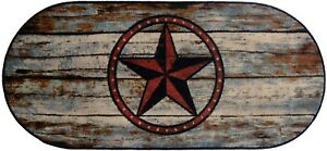 Details About 20x44 Barn Star Texas Rustic Cabin Lodge Oval Kitchen Rug Mat Washable Accent