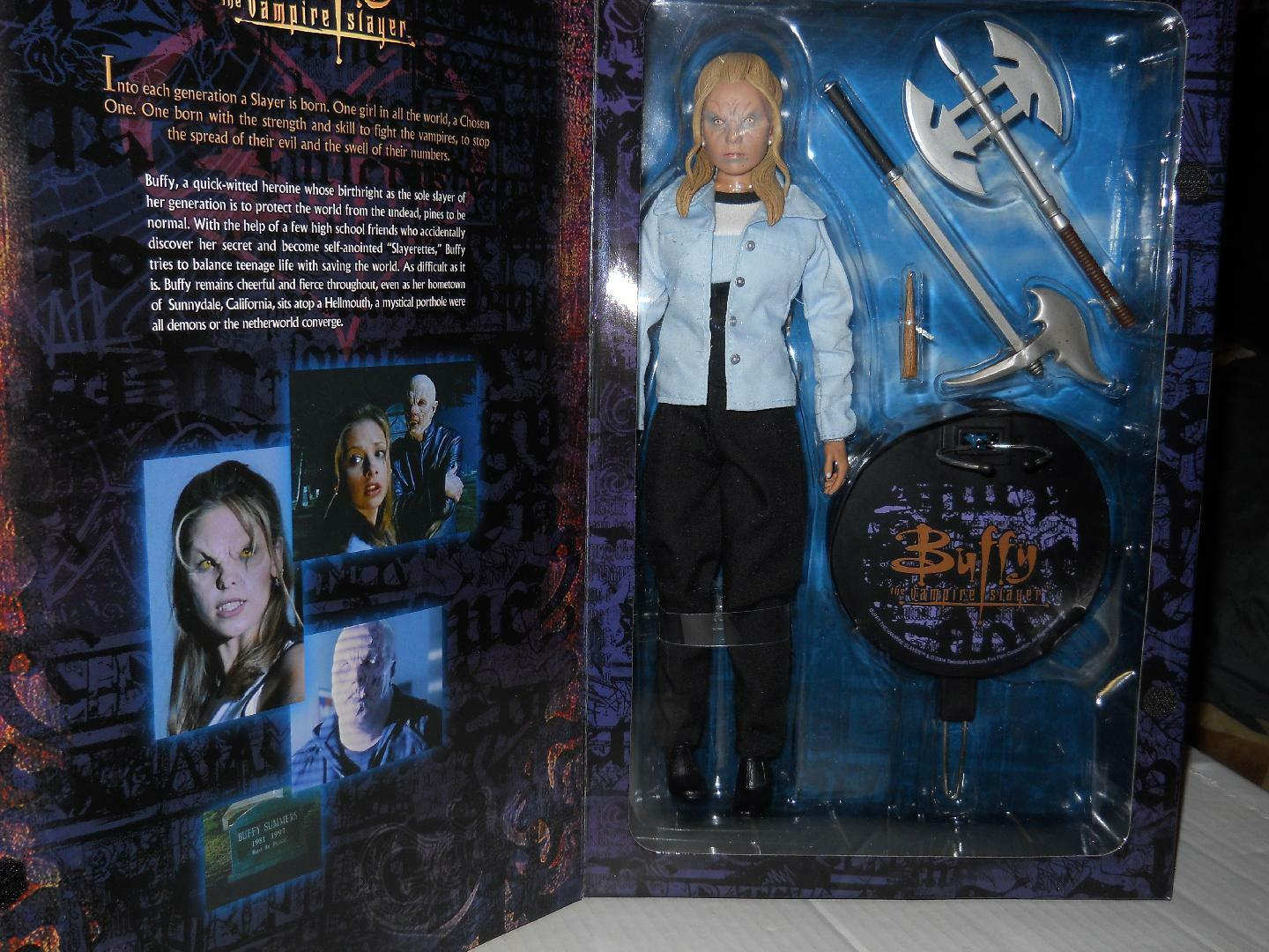 1 6 Sideshow Toys Buffy the Vampire Slayer BTVS BTVS BTVS Vampire Buffy MIB Extra Weapons d97e5d