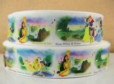 "BTY 1"" Cute Disney Princess With Prince Grosgrain Ribbon Hair Bow Scrapbook Lisa"