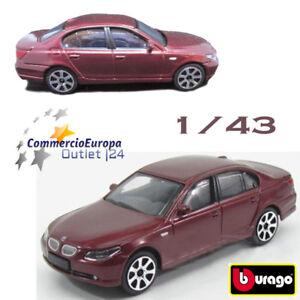 MODELLINO-1-43-BURAGO-AUTO-DA-COLLEZIONE-BMW-545i-ROSSO-VINO-SEMI-OPACO-TOYCAR