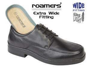 Mens Soft Black Leather XXX Wide Fit