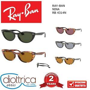 RAY-BAN-NINA-RB-4314N-OCCHIALE-DA-SOLE-DONNA-FORMA-GATTO-MODA