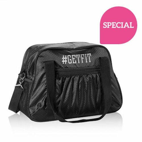 Thirty one ALL IN TOTE travel shoulder gym  sports utility bag 31 gift black str
