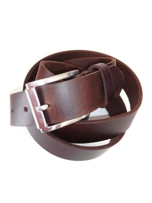 74cac366a1 Genuine Real Leather Men s Belt Waistband Plus Size 60 62 For Jeans Brown