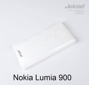 Jekod-white-TPU-gel-silicon-case-cover-screen-protector-for-Nokia-Lumia-900