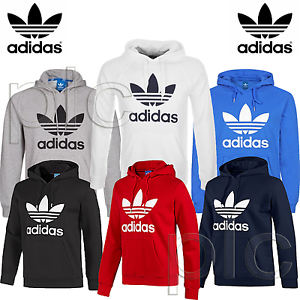 Image is loading New-Adidas-Originals-Mens-Trefoil-Fleece-Hoodie-Hooded- 769b284b2