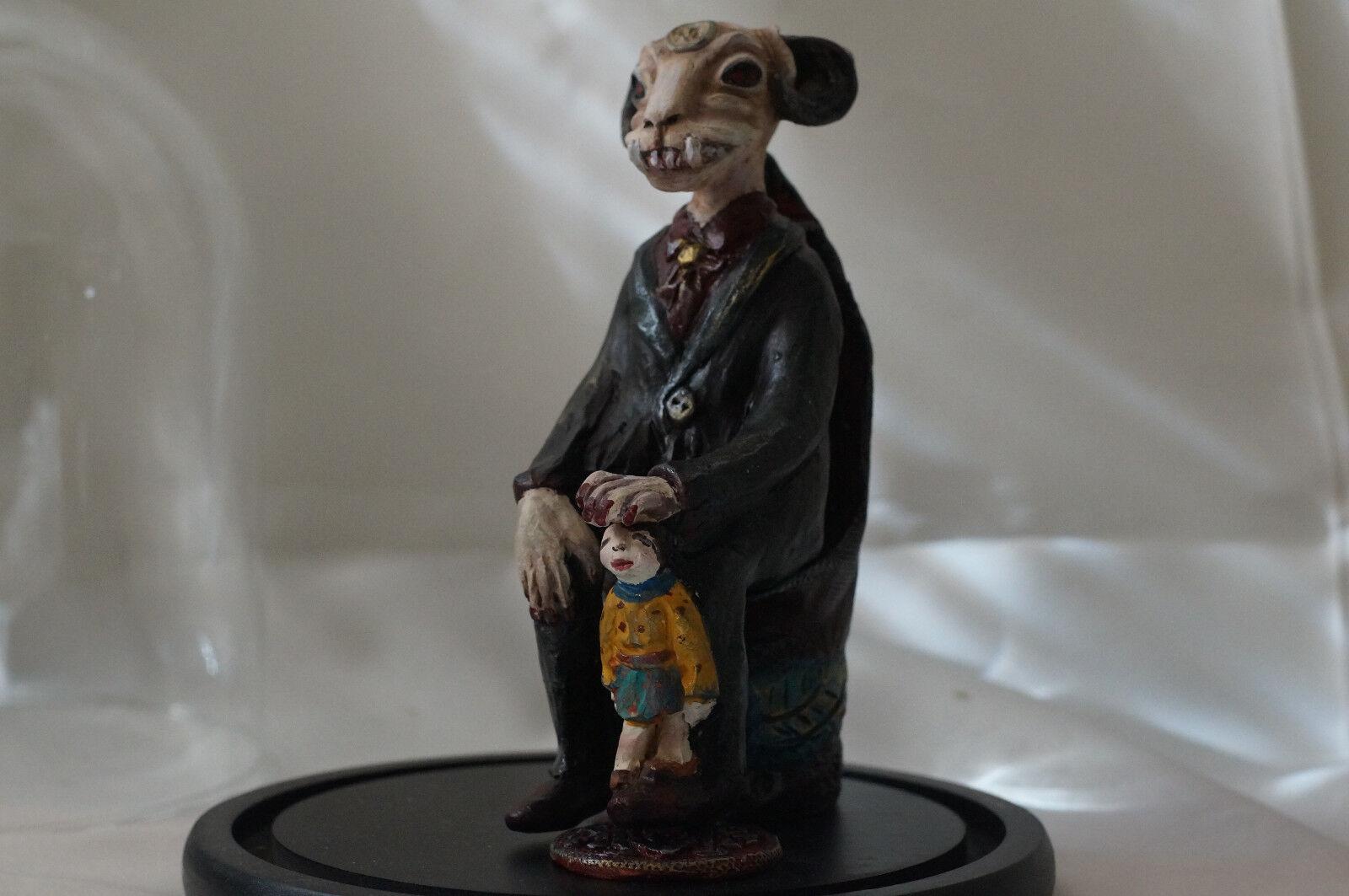 OOAK  Aka Manah  Demon Fantasy Figure Sculpture Polymer Clay Art Doll