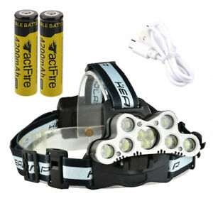 200000LM-Rechargeable-9-LED-Headlamp-Headlight-Torch-Lamp-Battery-USB-Cable