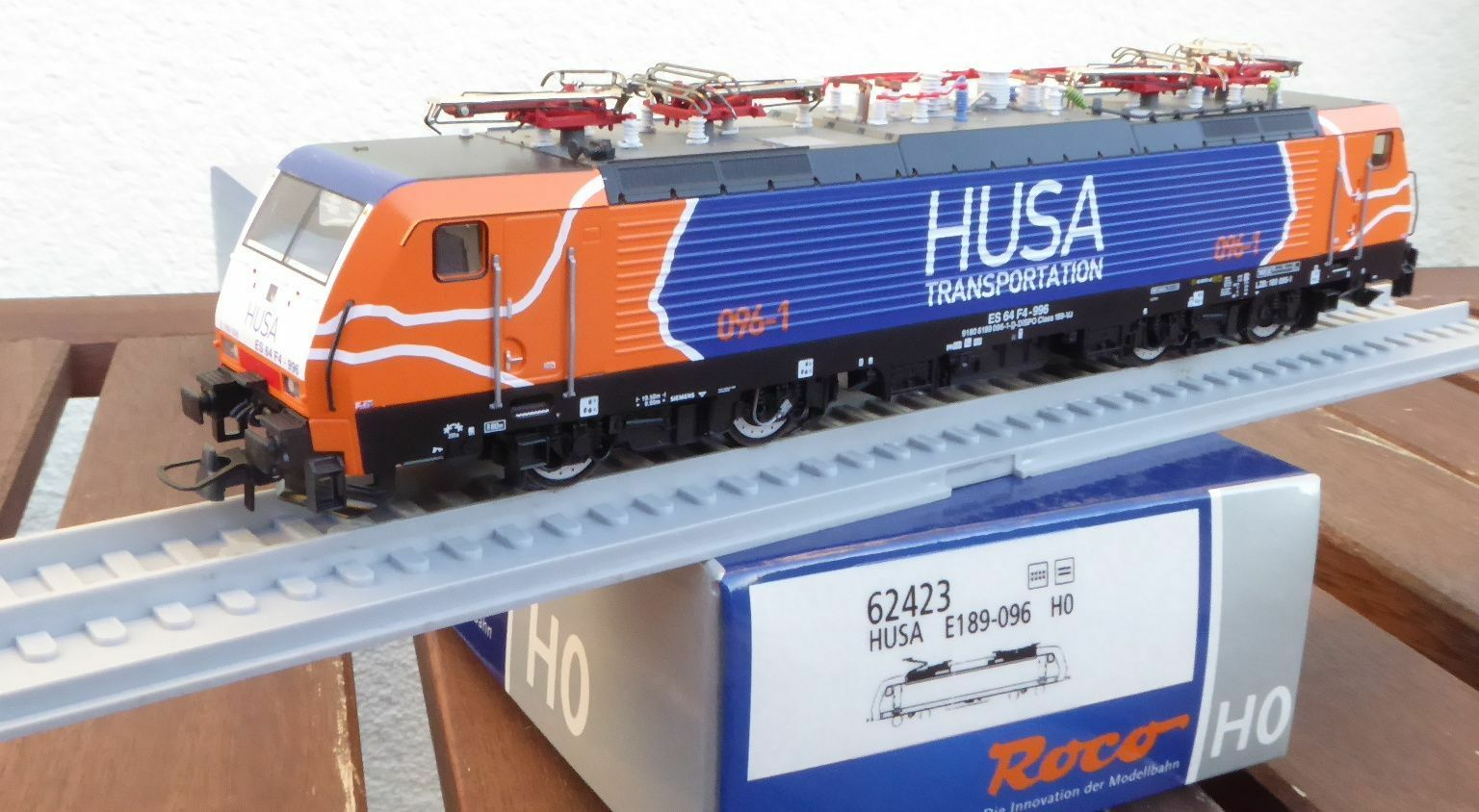 Roco 62423 E-Lok Br 189 096-1/ES64F4 Db Ag / Husa Ep.5/6 Nuovo Scatola Originale