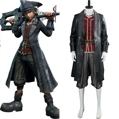 Kingdom Hearts 3 Sora Pirate Outfit Cosplay Costume Uniform Suit Full Set Hat