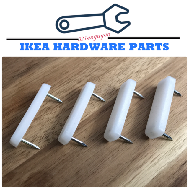 4x Ikea Surface Protection Floor Glides With Nails 40mm Part 122628