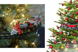 Trenino elettrico luci e suoni agganciabile all'albero di Natale diametro 89 cm