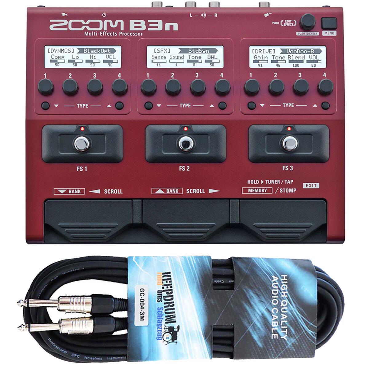 Zoom b3n multi-efecto dispositivo para Bass + + + cable KEEPDRUM 3m 197418