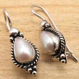 WHITE-SEA-PEARL-Earrings-925-Silver-Plated-Bulk-PACKS-of-10-50-100-PAIRS-LOT