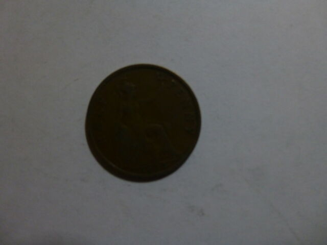 Old Great Britain Coin - 1935 Half Penny Halfpenny - Circulated