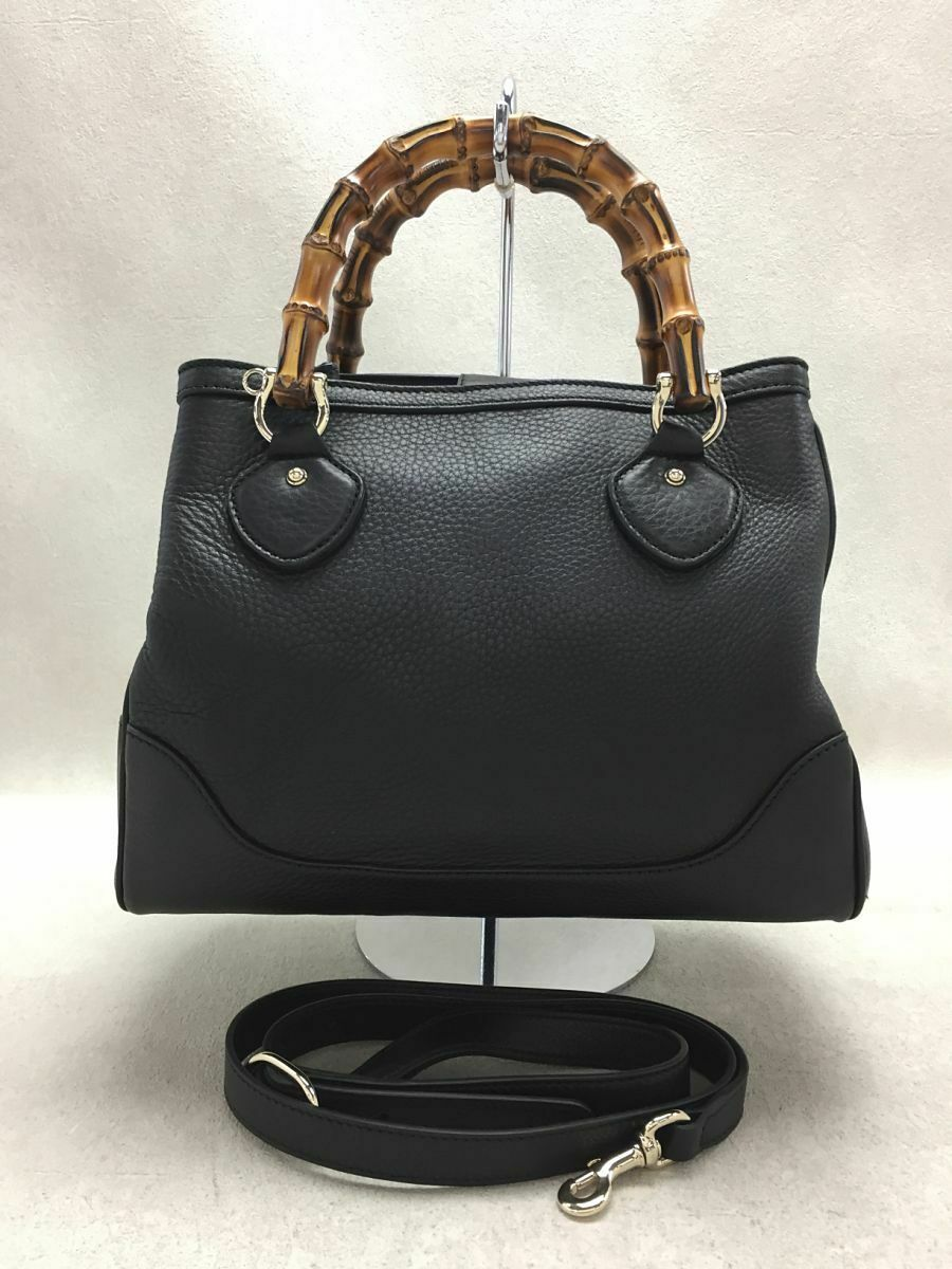 Used Gucci Diana Bamboo 2WAY Bag Leather Black Co… - image 1