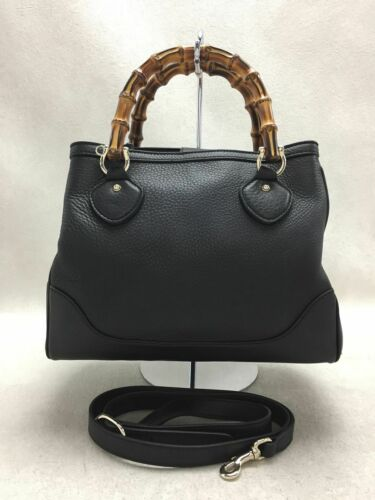 Used Gucci Diana Bamboo 2WAY Bag Leather Black Col